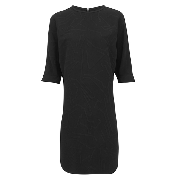 Alexander Wang Women's Shirt Tail Mini Dress with Flared A-Line Hem - Onyx