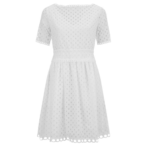 Carven Women's Laser Cut Shift Dress - White