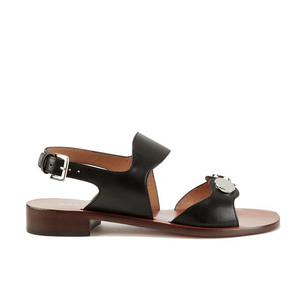 Carven Women's Flat Popper Sandals - Black