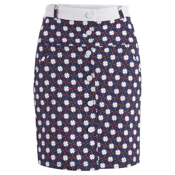 Carven Women's Printed Button Up Mini Skirt - Multi