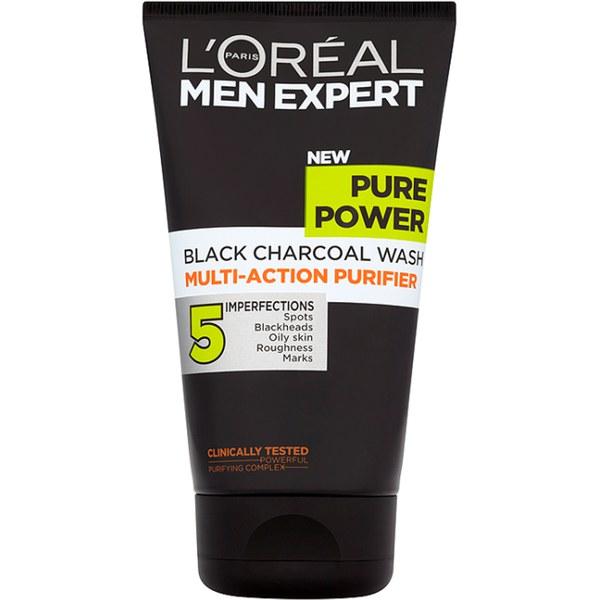 loreal pure power black charcoal wash