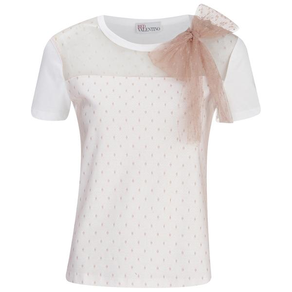 REDValentino Women's Front Bow T-Shirt - White