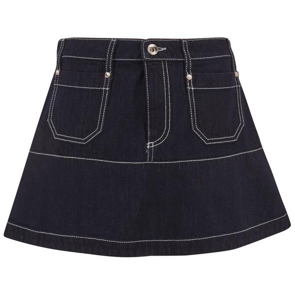 REDValentino Women's Mini Denim Skirt - Blue