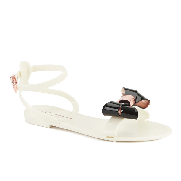 37bdedc98b11 Ted Baker Women s Louwla Jelly Bow Ankle-Strap Sandals - Cream Black  Image