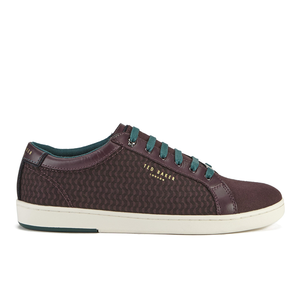Ted Baker Men's Keeran 3 Geo-Print Cup-Sole Trainers - Dark Red