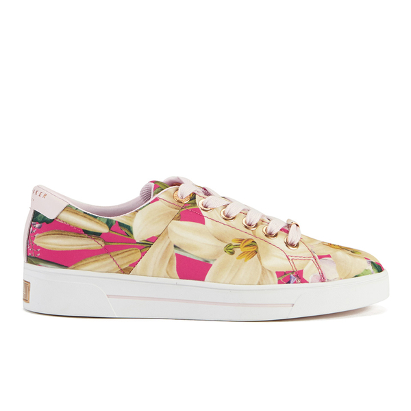 Ted Baker Women's Ophily Floral Print Trainers - Encyclopedia Floral