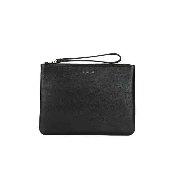 Coccinelle Women S Buste Leather Clutch Bag Black Image 1