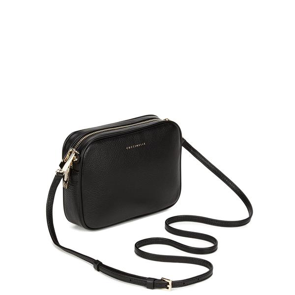 Coccinelle Women s Leather Zip Cross Body Bag - Black Womens ... 0206090f7bbf9