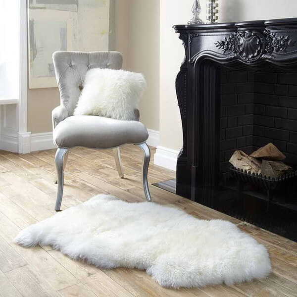 Royal Dream Large Sheepskin Rug Neutral Traditional