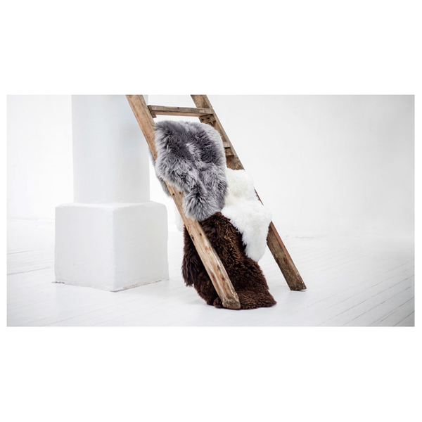 Royal Dream Large Sheepskin Rug Grey Image 2