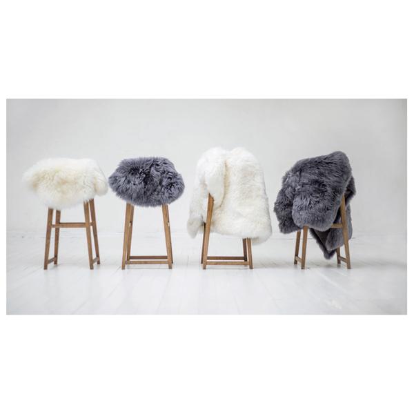 Royal Dream Large Sheepskin Rug   Grey: Image 3
