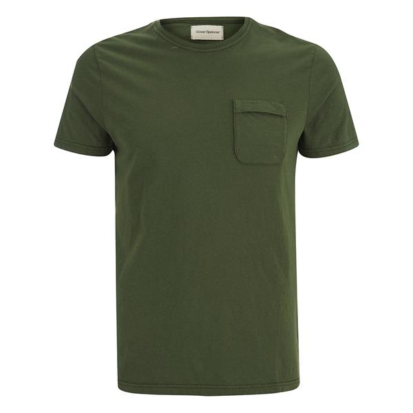 oliver spencer men 39 s envelope t shirt green free uk. Black Bedroom Furniture Sets. Home Design Ideas