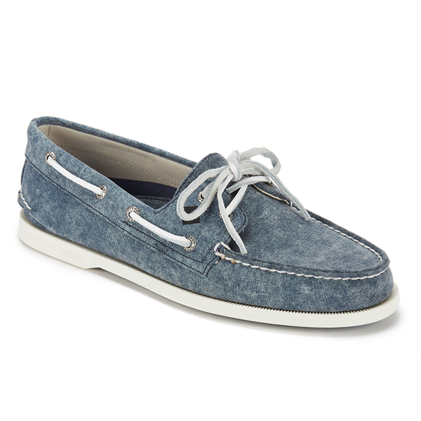 sperry s a o 2 eye white cap canvas boat shoes navy