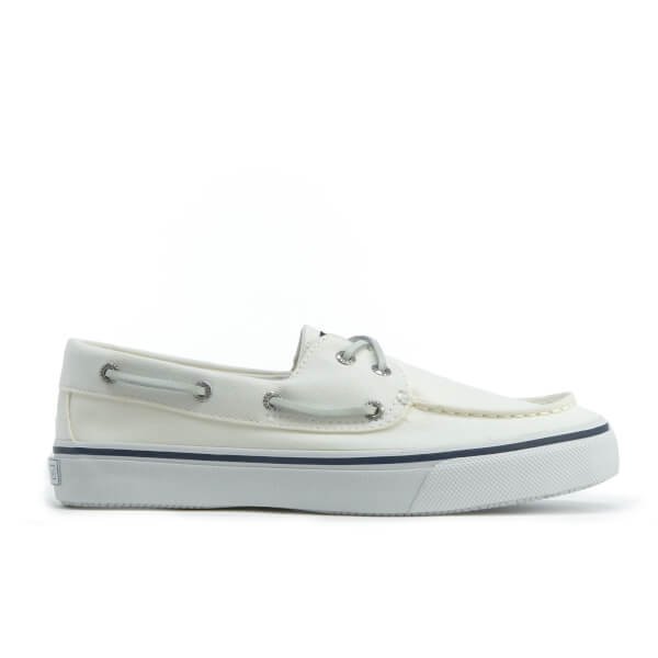 Sperry Men's Bahama 2-Eye Canvas Boat Shoes - White