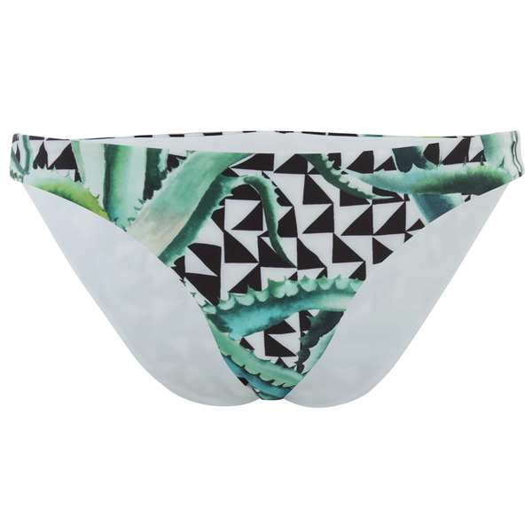 Mara Hoffman Women's Reversible Low Rise Bikini Bottoms - Aloe Black