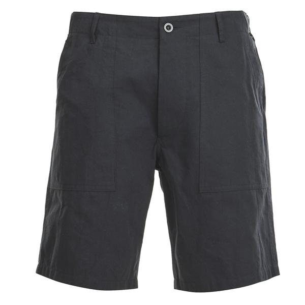 Maison Kitsuné Men's Cotton Worker Shorts - Black