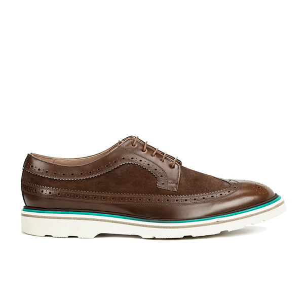 Paul Smith Shoes Men's Grand Suede Brogues - Tan City Soft