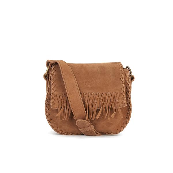 b5595cb951e4 Liebeskind Women s Lennja Suede Fringe Crossbody Bag - Cognac  Image 1
