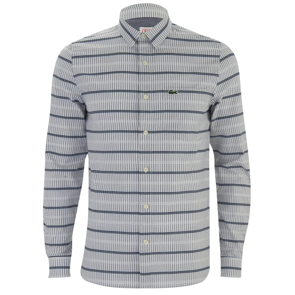 Lacoste Live Men's Patterned Long Sleeve Shirt - Grey