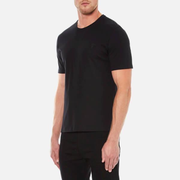 black versace shirt