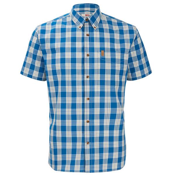 Fjallraven Men's Ovik Button Down Short Sleeve Shirt - Lake Blue