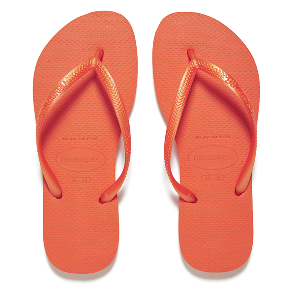 0be763b8b37da0 Havaianas Women s Slim Flip Flops - Neon Orange  Image 1