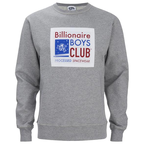 Billionaire Boys Club Men's Processed Reversible Crew Neck Sweatshirt - Heather Grey