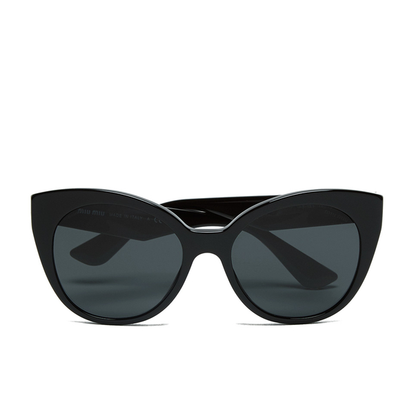 Miu Miu Women's Cat Eye Sunglasses - Black