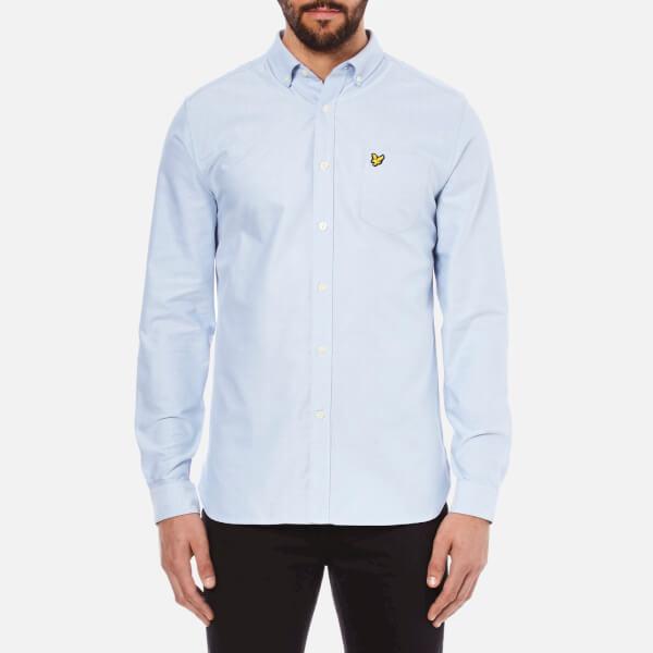 Lyle & Scott Vintage Men's Long Sleeve Oxford Shirt - Riviera Blue