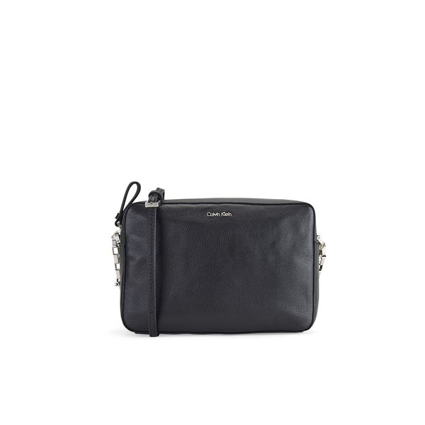 Calvin Klein Women s Kate Pebbled Leather Crossbody Bag - Black  Image 1 c9523f174d9ef