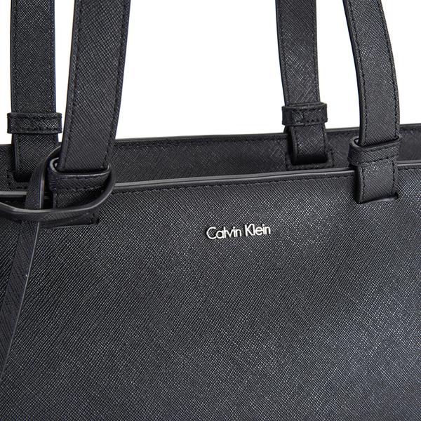 d0d15eb8e1 Calvin Klein Women's Sofie Large Saffiano Leather Tote Bag - Black: Image 3