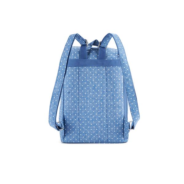 Herschel Women s Reid Polka Dot Crosshatch Backpack - Light Blue  Image 5 3f80a8054e2c5