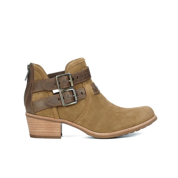 UGG Women's Patsy Heeled Suede Ankle Boots - Chestnut