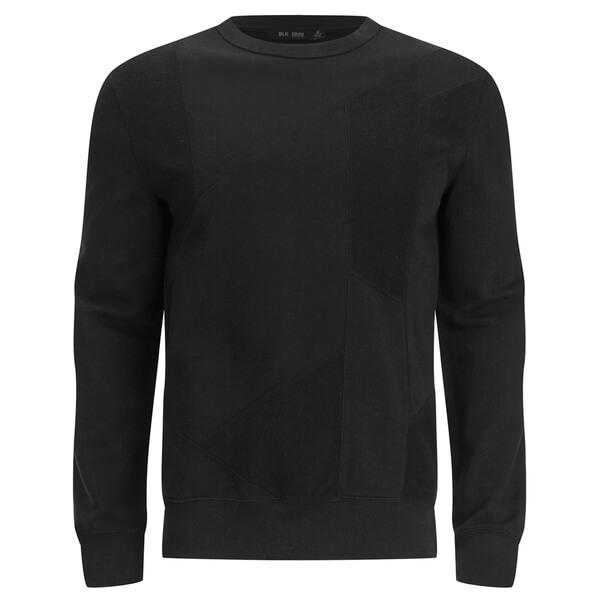 BLK DNM Men's Patchwork French Terry Sweatshirt - Black