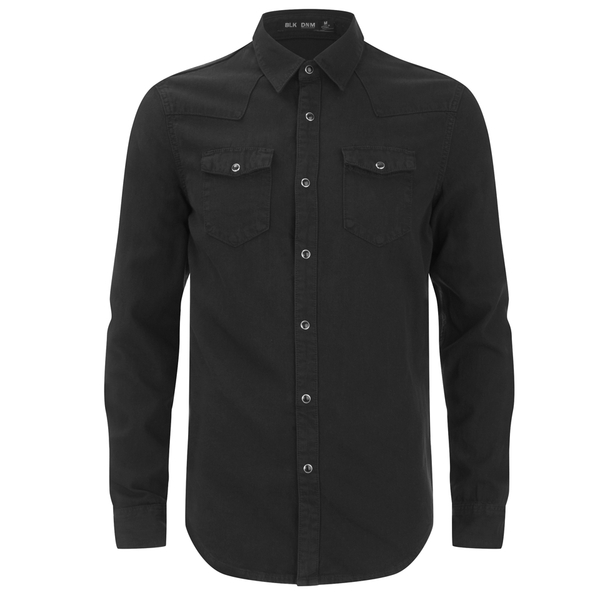 BLK DNM Men's Fitted Denim Shirt - Pocono Black