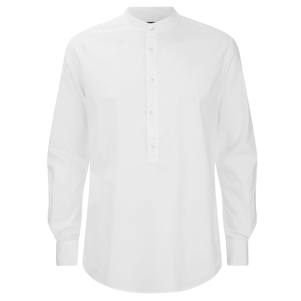 BLK DNM Men's Poplin Kaftan Shirt - White