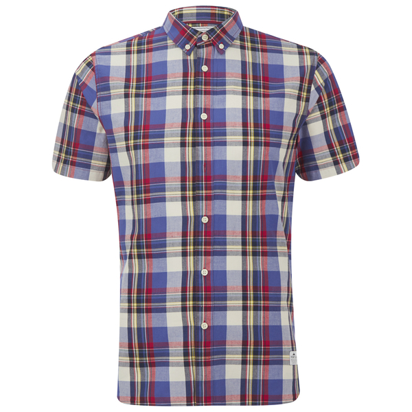 Penfield Men's Nolan Checked Short Sleeve Shirt - Blue