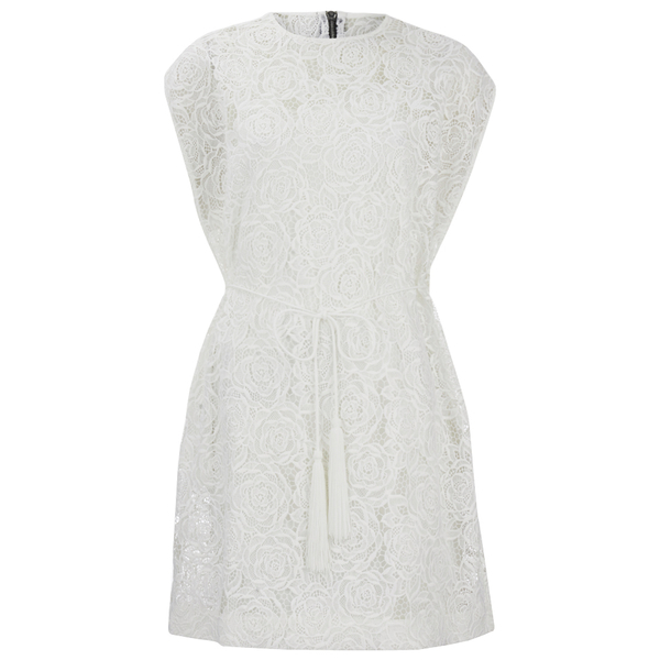 McQ Alexander McQueen Women's Lace Cape Dress - Ivory