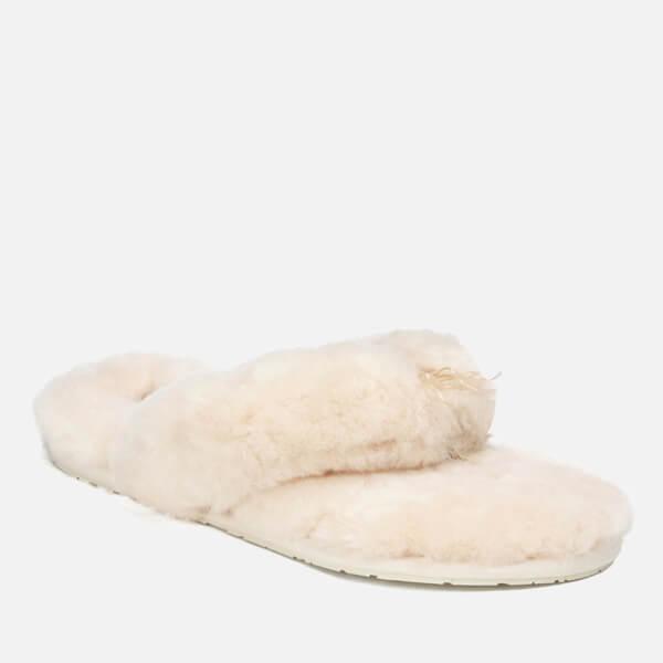 26186522c UGG Women s Fluff Flip Flop II Slippers - Natural  Image 5
