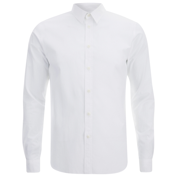 Folk Men's Long Sleeved Shirt - White