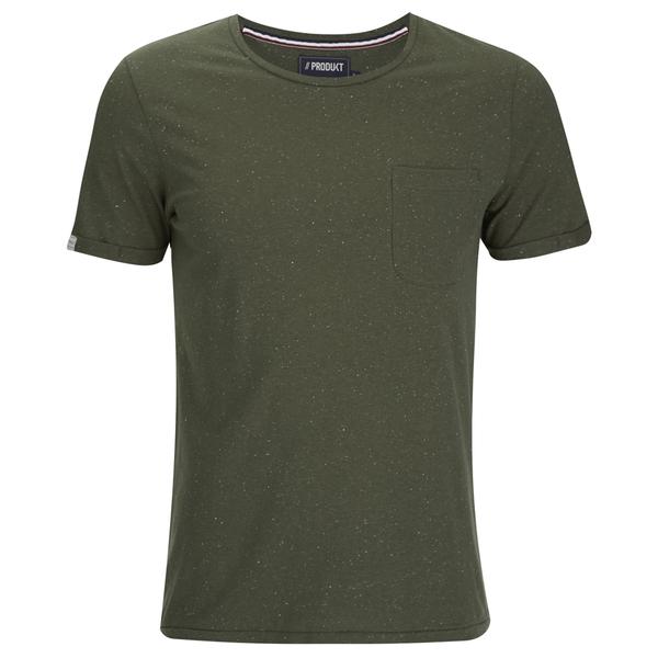 T -Shirt Produkt pour Homme Pocket Short Fleck -Olive