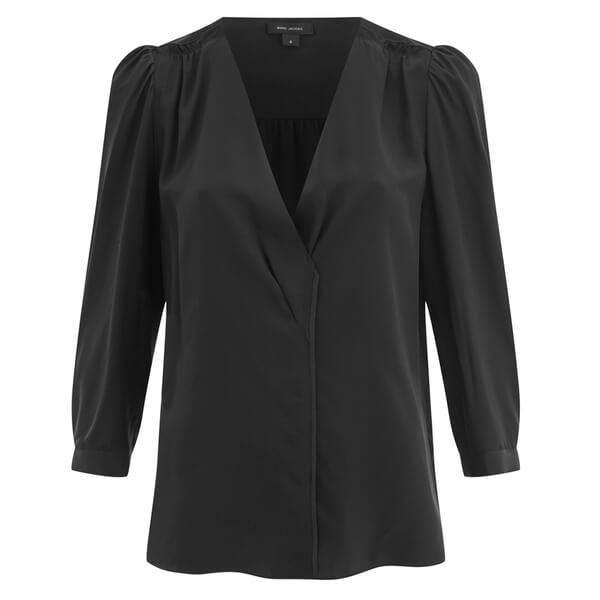 Marc by Marc Jacobs Women's Silk Wrap Front Blouse - Black