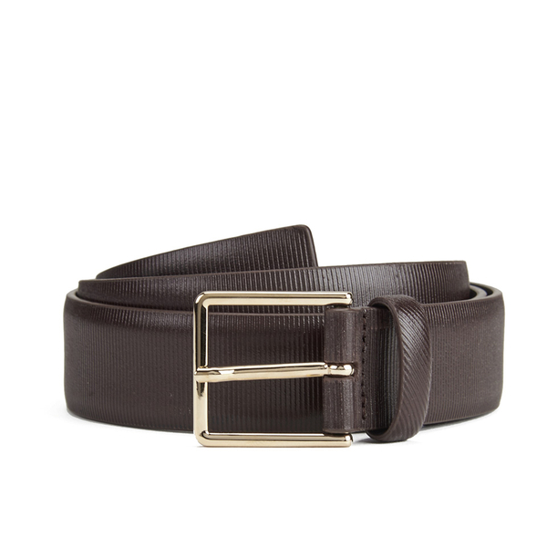 Paul Smith Accessories Men's Saffiano Belt - Cognac