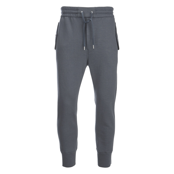Helmut Lang Men's Padded Jersey Track Pants - Gun Metal