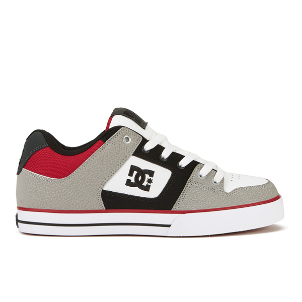 DC Shoes Men's Pure Trainers - Grey/Black/Red: Image 1