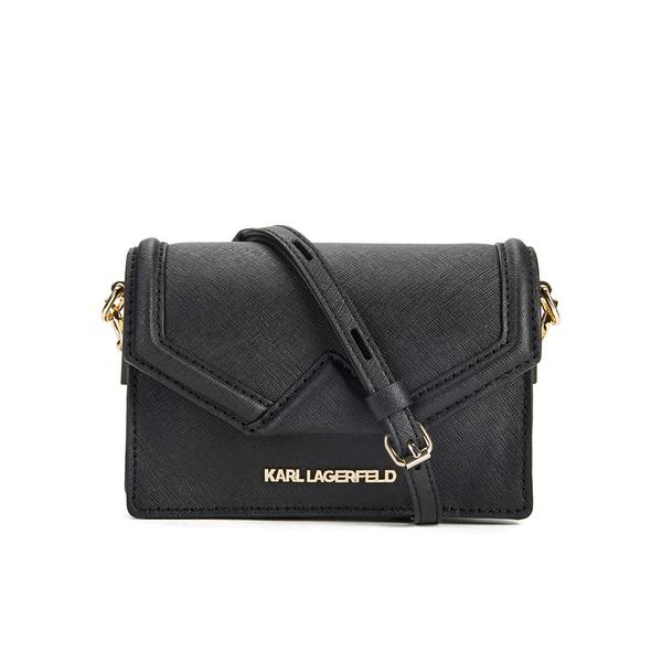 Karl Lagerfeld Women s K Klassik Super Mini Crossbody Bag - Black  Image 1 ff885e8f7abce