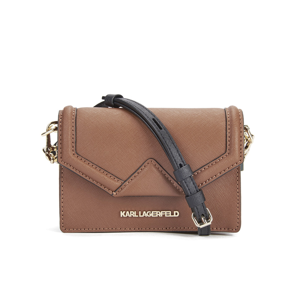 8eb0e48b270a Karl Lagerfeld Women s K Klassik Super Mini Crossbody Bag - Tan  Image 1