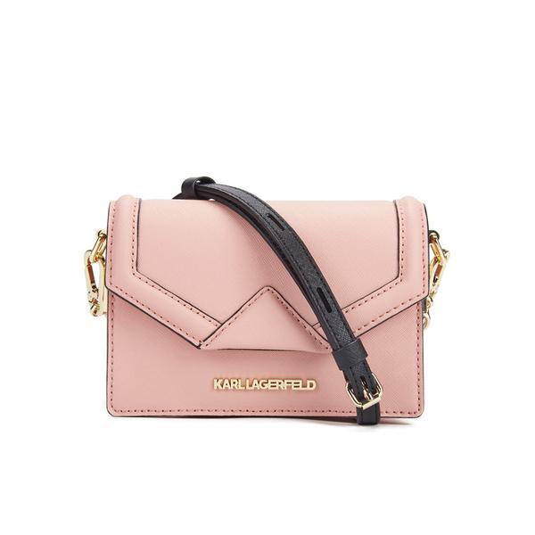 164538c2e0344 Karl Lagerfeld Women s K Klassik Super Mini Crossbody Bag - Misty Rose   Image 1