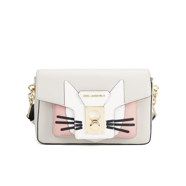 Karl Lagerfeld Women s K Pin Closure Shoulder Bag - Yoghurt  Image 1 c57bb92af37d6