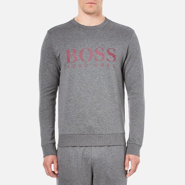 BOSS Green Men's Salbo Sweatshirt - Mid Grey